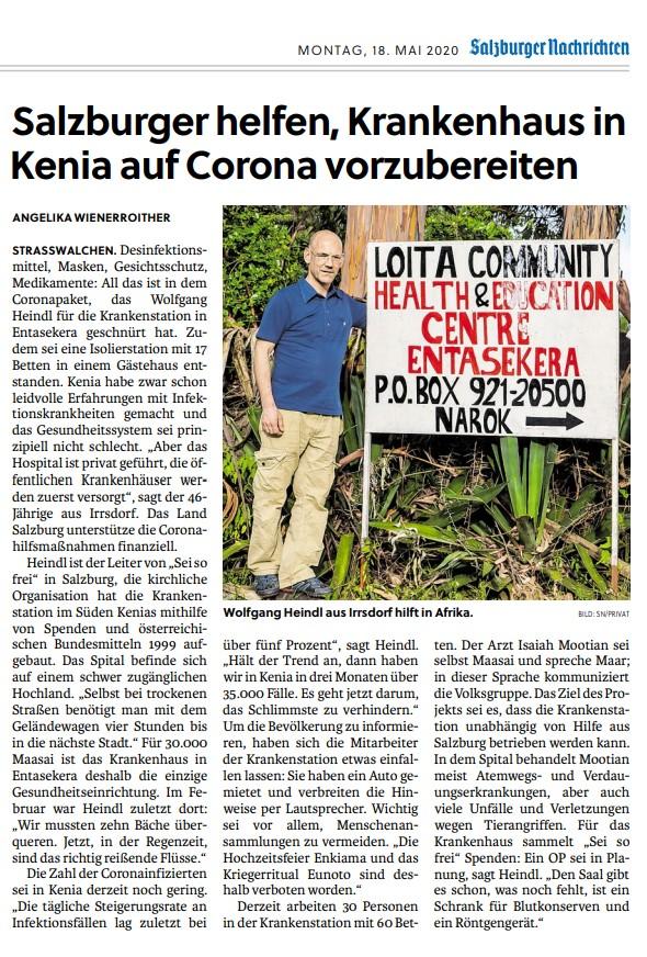 200518_SN_SalzburgerHelfen, Krankenhaus in Keinia auf Corona vorzubereiten